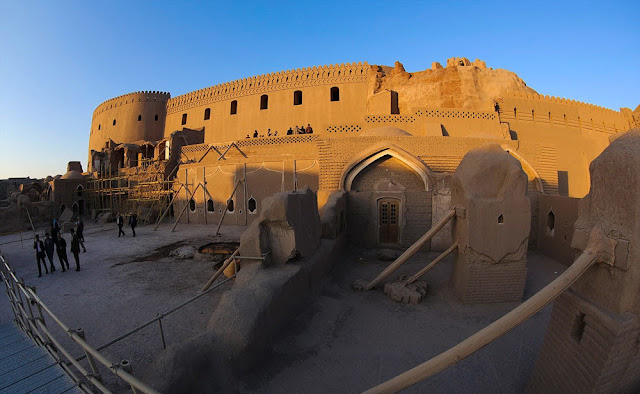 Bam citadel of Kerman is getting restored.