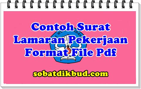 Contoh Surat Lamaran Pekerjaan Format File Pdf