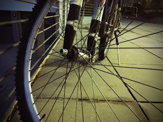 Vorderrad eines Fahrrads