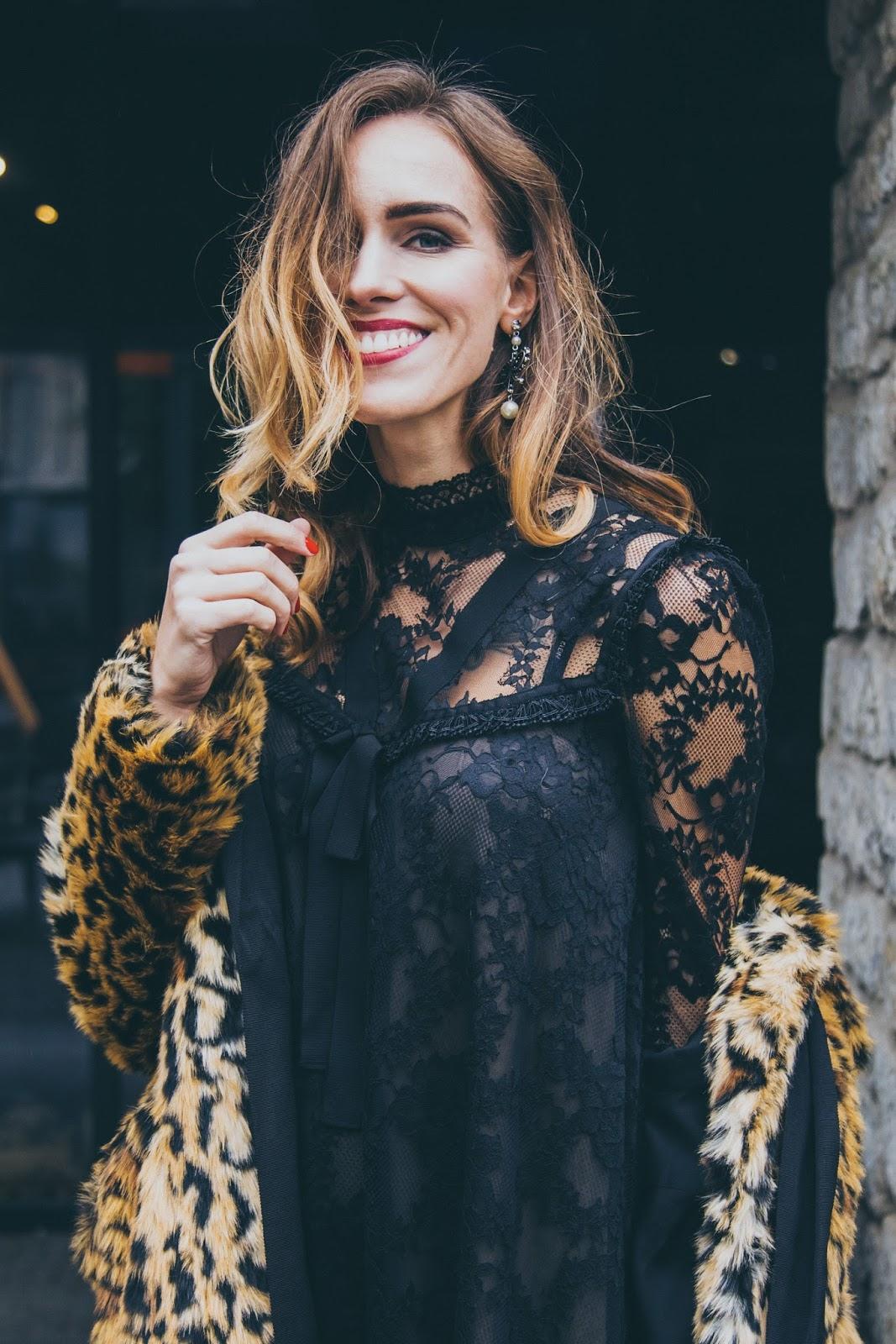 erdem x hm collaboration collection leopard coat lace dress
