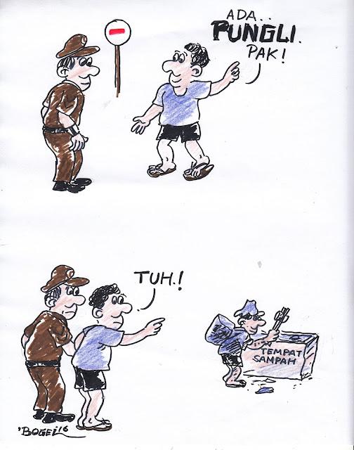 """Kartun """"Pungli"""" karya Darmanto"""