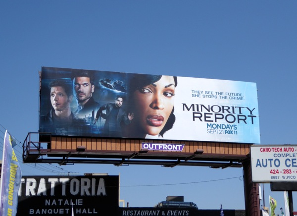 Minority Report TV remake billboard