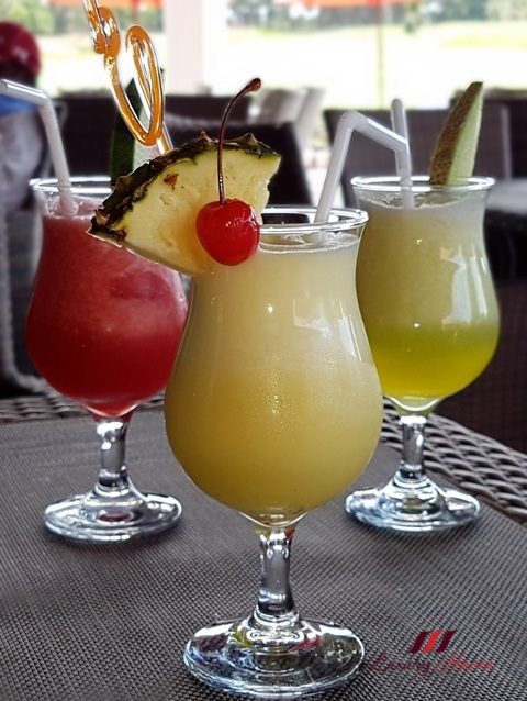 bintan lagoon resort haskells cafe review juices cocktails