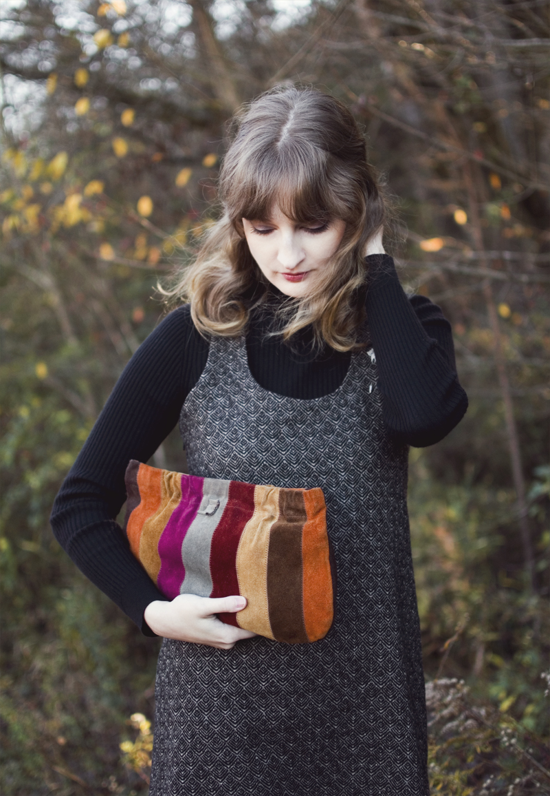 The Flying Clubhouse: November, November | vintage suede clutch