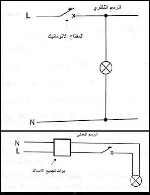 دائرة لتشغيل مصباح كهربائي (لمبة) دون تحكم