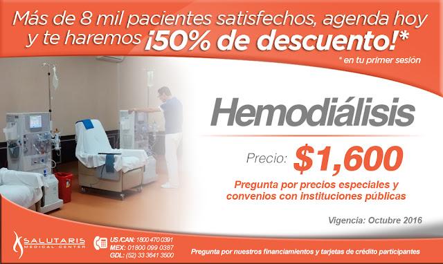 Precio Hemodialisis Guadalajara Salutaris