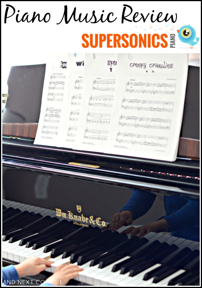 Piano teacher resources: review of Supersonics Piano, a great collection of contemporary piano music for kids from And Next Comes L