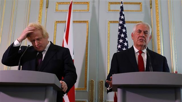 United States takes 'full responsibility' for Manchester attack leaks of the British investigation: US Secretary of State Rex Tillerson