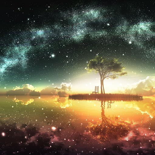Starry Sky And Tree Wallpaper Engine
