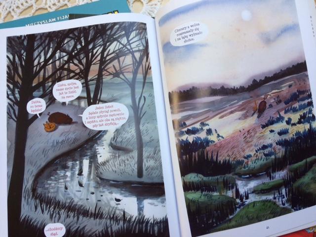 lisek i dzik, komiks dla dzieci