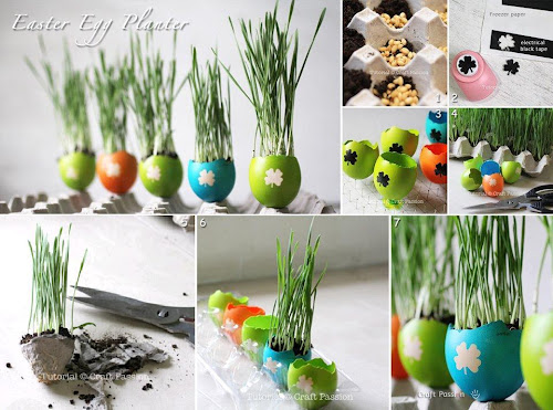 Beautiful Easter Egg Planter