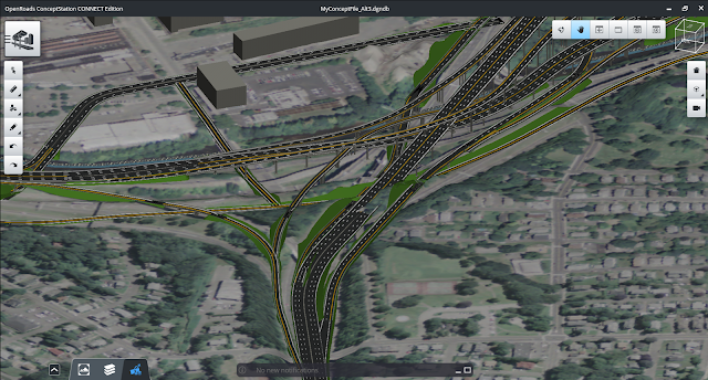 HNTB Delivers Rapid and Iterative Conceptual Designs for new I 84/ Route 8 Interchange with OpenRoads ConceptStation