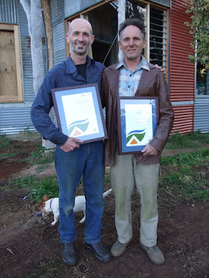 Richard & Peter with certificates