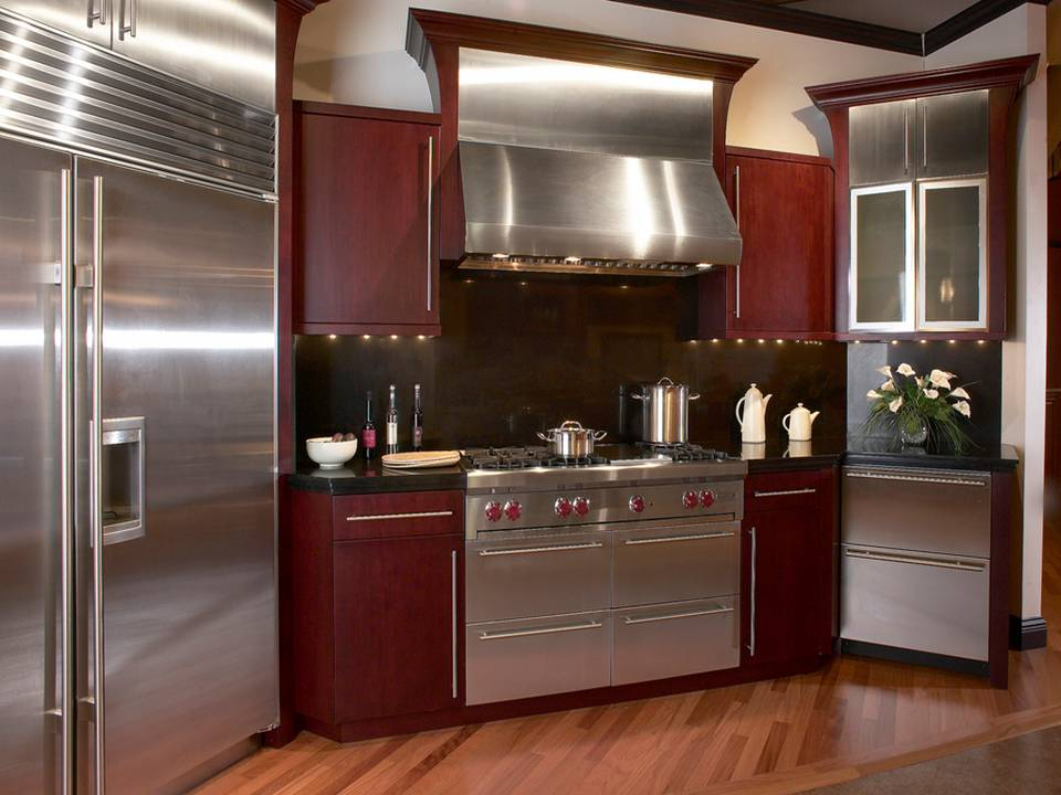 Stainless Kitchen Appliances Decor Units
