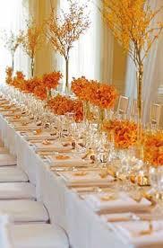 Orange Wedding Table Decorations