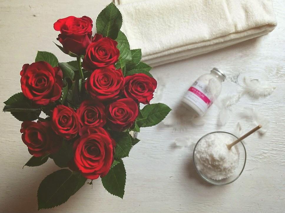 różana sól do kąpieli