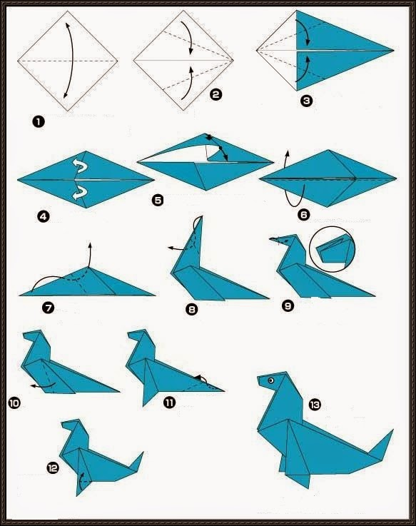 30 Beautiful Examples Of Easy Origami Animals | Easy origami ... | 737x583