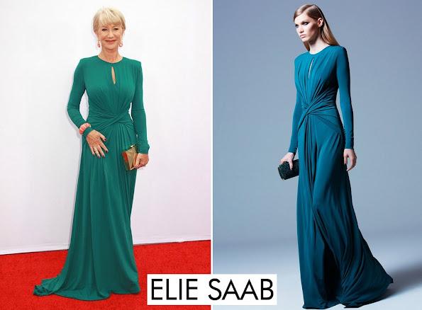 Helen Mirren wore Elie Saab Long Dress