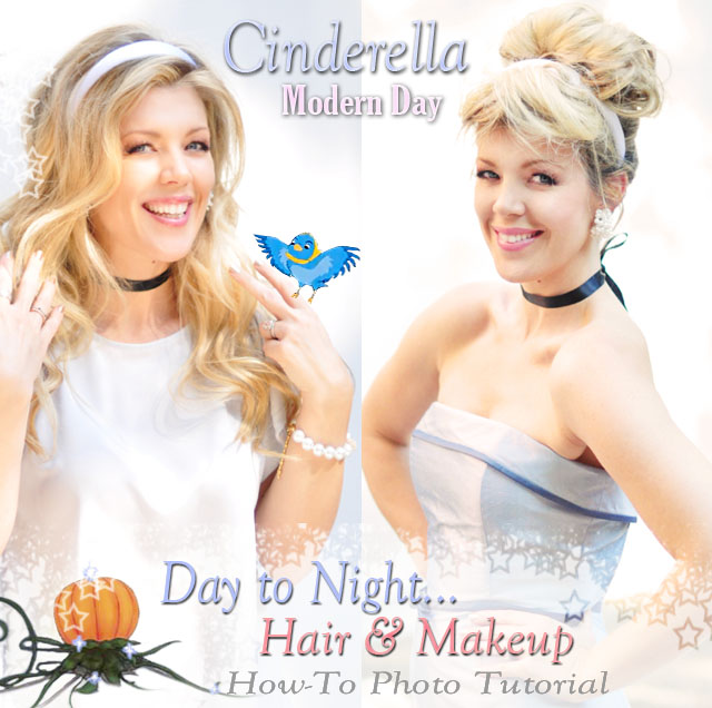 Modern Day Cinderella Costumes + Hair and Makeup Tutorials