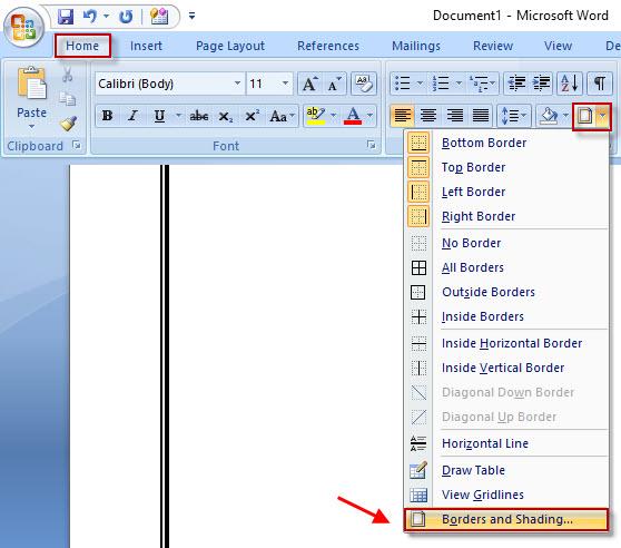 Cara Cepat Membuat Garis Di Word Garis Horizontal Garis Vertical Garis Kotak Garis Buku Tulis Dll Panduan Ms Office