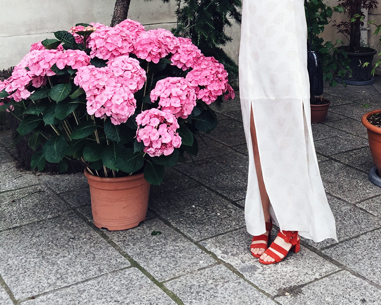 Cienne New York Frankie Dress, Marais USA Jardin Heels, Helene Heath in Paris