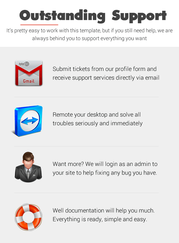 support blogger template
