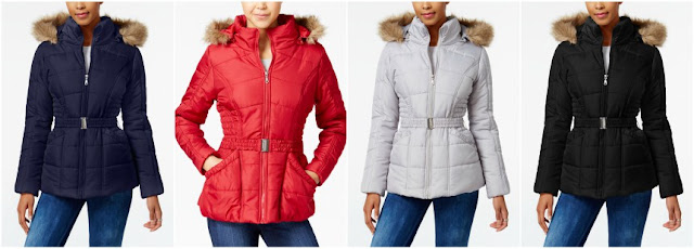 Rampage Faux Fur Trim Hooded Puffer Coat $30 (reg $70)
