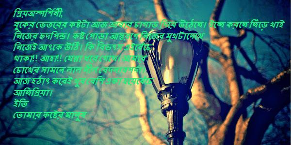 bengali love letter for girlfriend