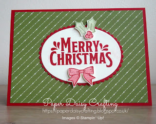 Stampin' Up! Christmas card with Holly Berry Happiness