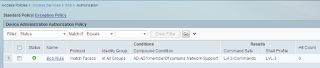 ACS command set results