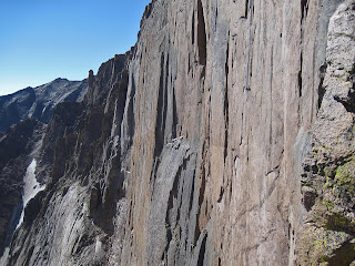 The Diamond, the ultimate mountaineering objective in Colorado