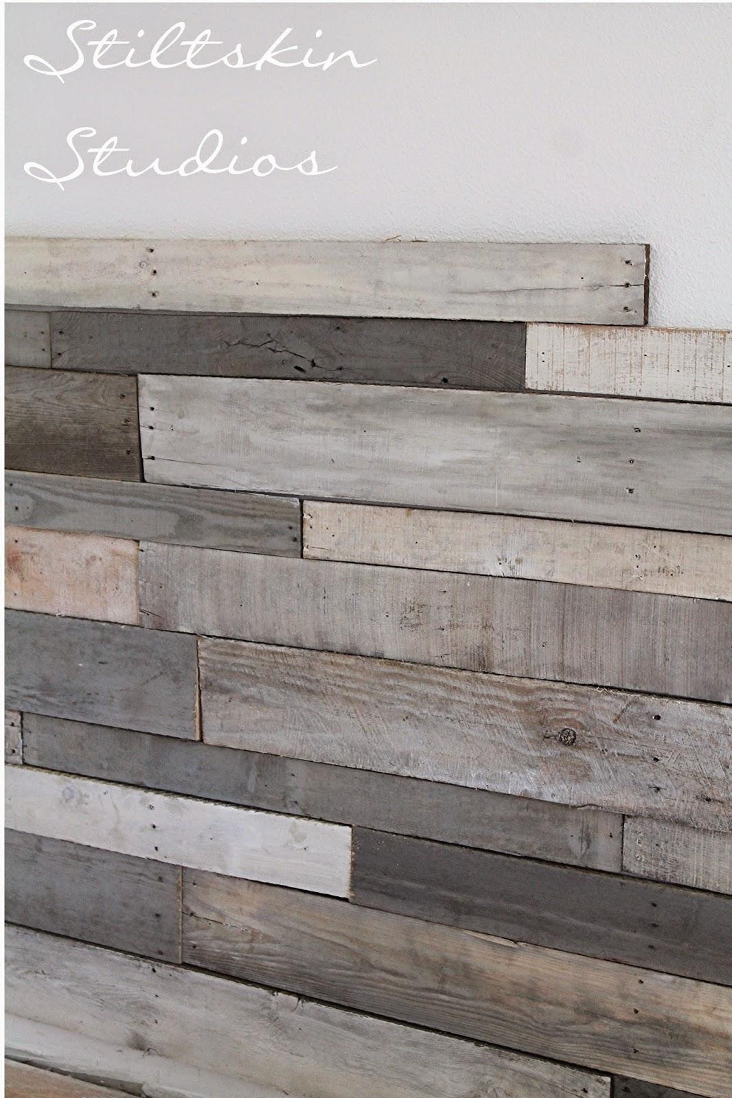 Stained Wood Wall: Stiltskin Studios: Pallet Wall