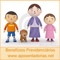 Os dependentes para fins de Benefício no INSS.