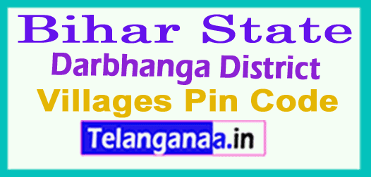 Darbhanga District Pin Codes in Bihar State