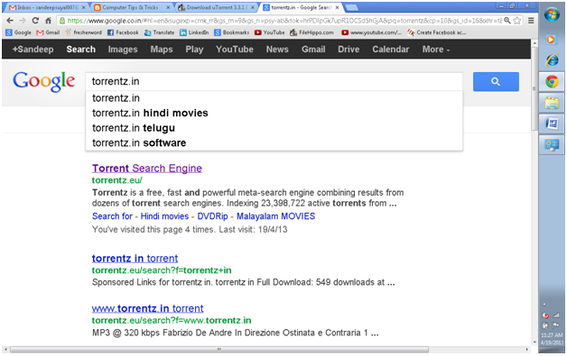 torrent search engine indian movies