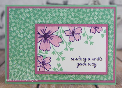 Floral Sending Smiles Card Made Using Stampin' Up! UK Supplies.  Buy Card Making Supplies here