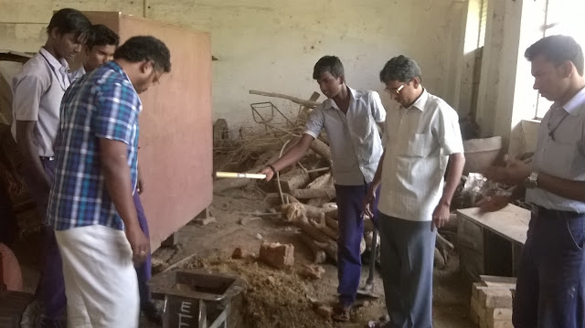 TRICHY GOVT ITI FOUNDRY MAN SECTION WORK