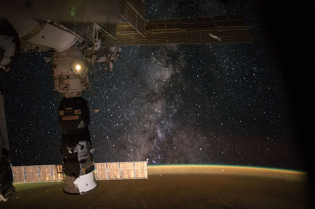 Milky Way Galaxy seen from the International Space Station