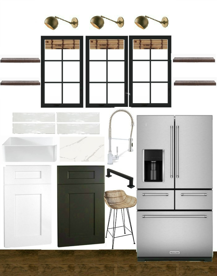 Modern farmhouse kitchen design board