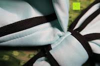 Schleife: MODETREND Damen Kleider mit Bogen 1/2-Arm Etui Elastisch Tulpenkleid Wort Schulter Partykleider Bleistiftrock Abendkleid Casualkleider