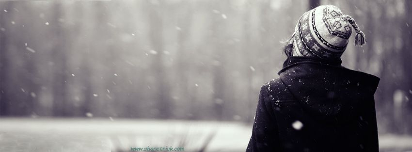 Girl feeling Snowfall Facebook Cover Photo is one of the coolest timeline banner photos for girls and their FB accounts plus other Social Profiles