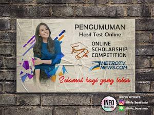 PENGUMUMAN: Seleksi Online Scholarship Competition 2017