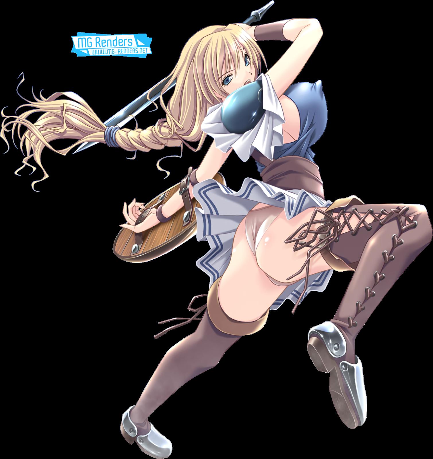 Tags: Anime, Render,  Braid,  Huge Breasts,  Pantsu,  Sideboob,  Skirt,  Sophitia Alexandra,  Soulcalibur,  PNG, Image, Picture
