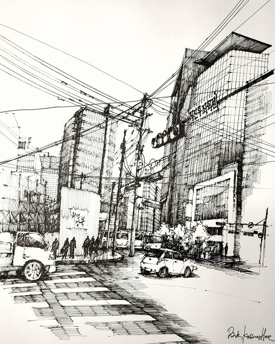 11-Park-Kwang-Hee-Architectural-Sketches-Interior-Exterior-Old-and-New-www-designstack-co