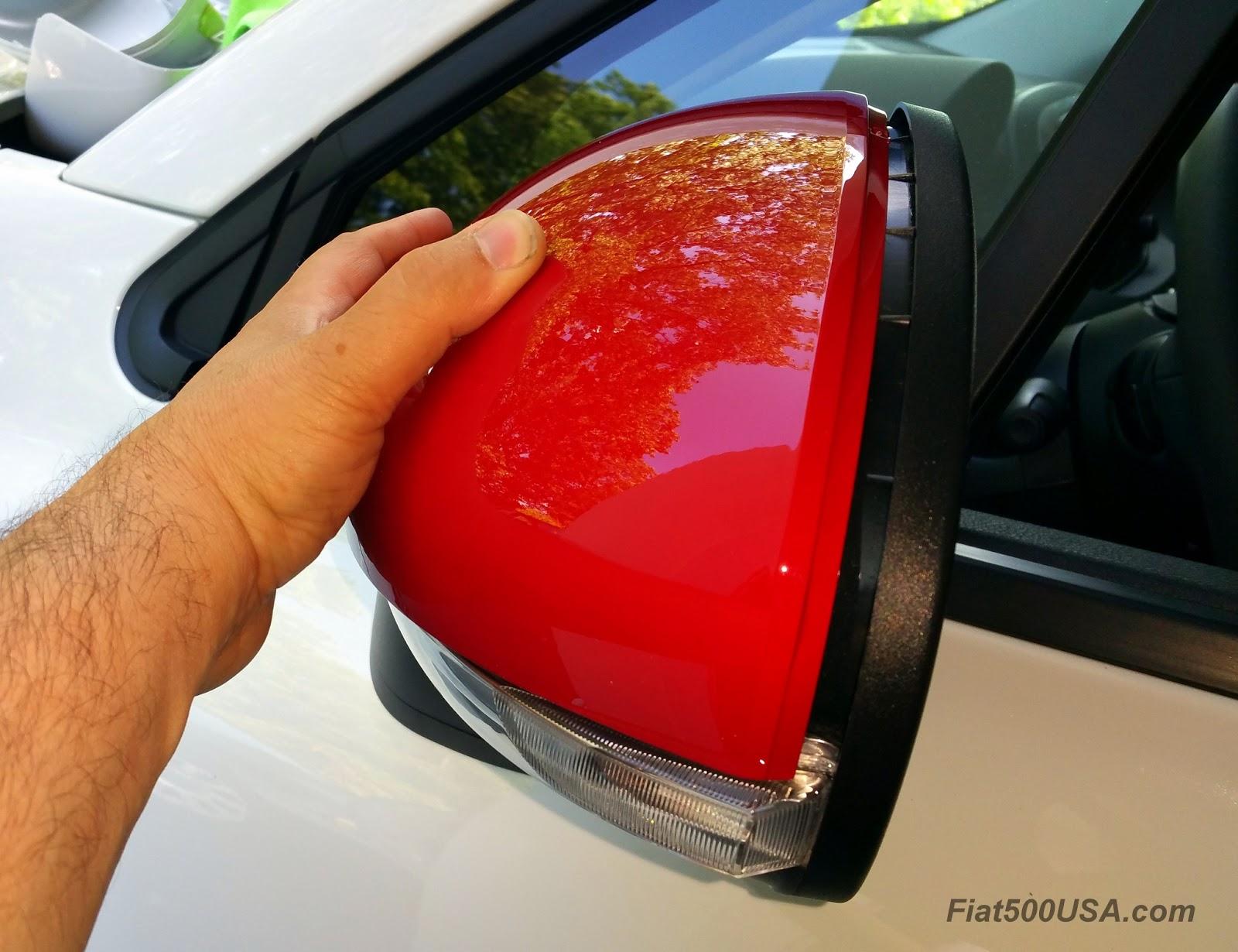 RIGHT HAND SIDE OFFSIDE DOOR WING MIRROR COVER CAP TRIM CASING FIAT PUNTO /& 500