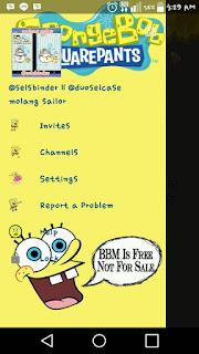 BBM Mod Spongebob Free Apk Terbaru 2016