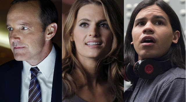 agents of shield, castle e flash