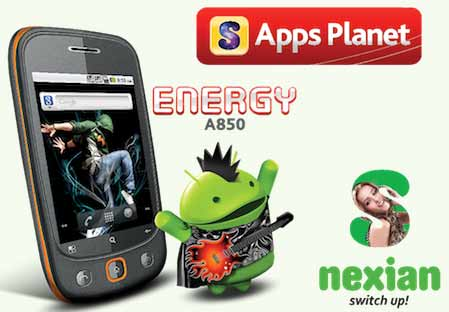 Energy dengan harga cukup murah dan harga normal S S-Nexian Energy A850, Android Murah dengan GPS dan Dual Sim