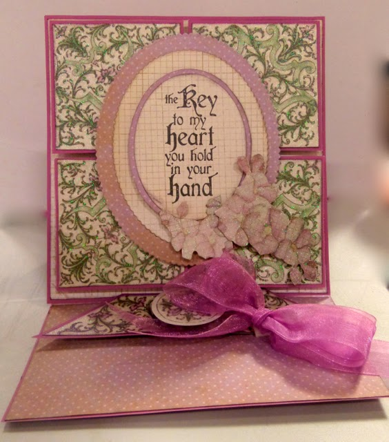 DCWV Card by Clare Charvill The Chateau Lavender