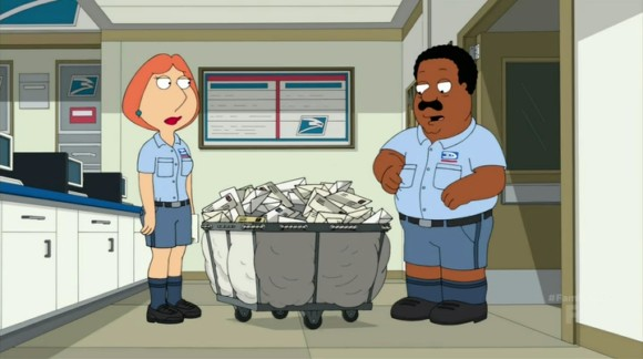 To pay for stewie s private school lois becomes a postal worker